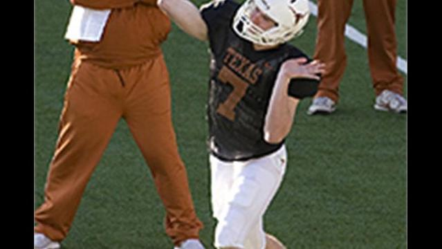 Texas' Garrett Gilbert tabbed to start
