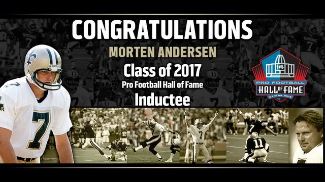 Morten Andersen selected to NFL Hall of Fame