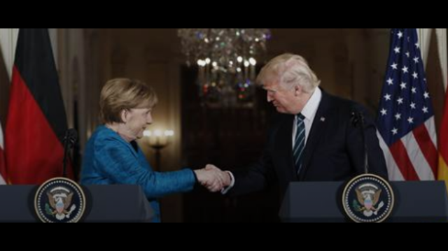 Trump to Merkel on wiretaps: 'We have something in common'