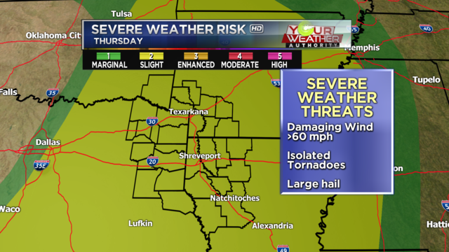 Strong, severe thunderstorms Saturday