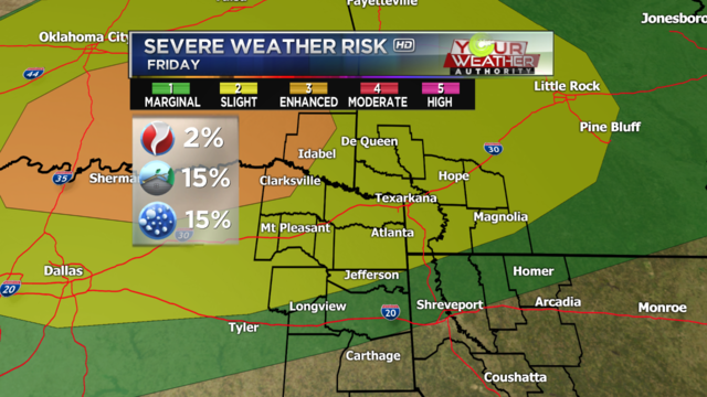 Severe Weather Threat Late Friday Night