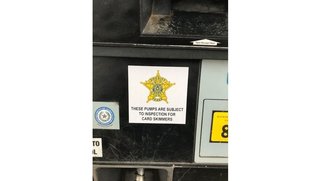 East Texas Sheriff's office placing stickers to warn skimmers