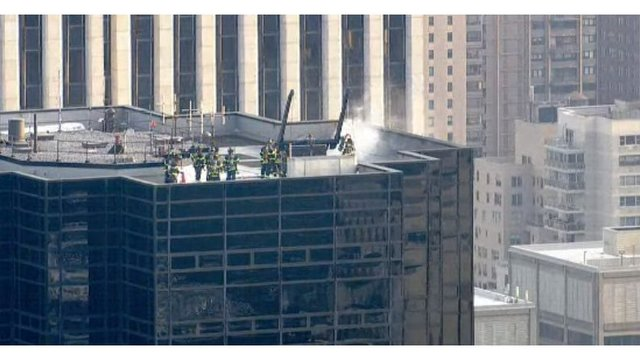 Electrical fire on roof of Trump Tower