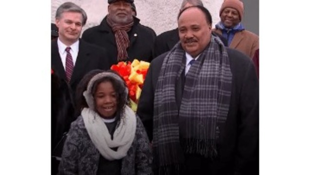 MLK's granddaughter, son honor his legacy