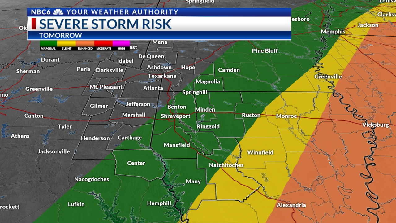 Severe Weather Risk Tomorrow