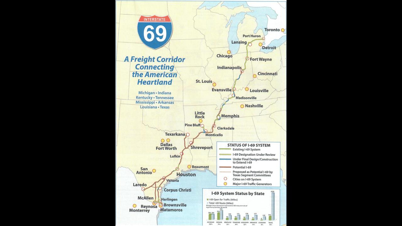 I69 Arkansas Map.Gtedc Promoting I 69 Through South Arkansas