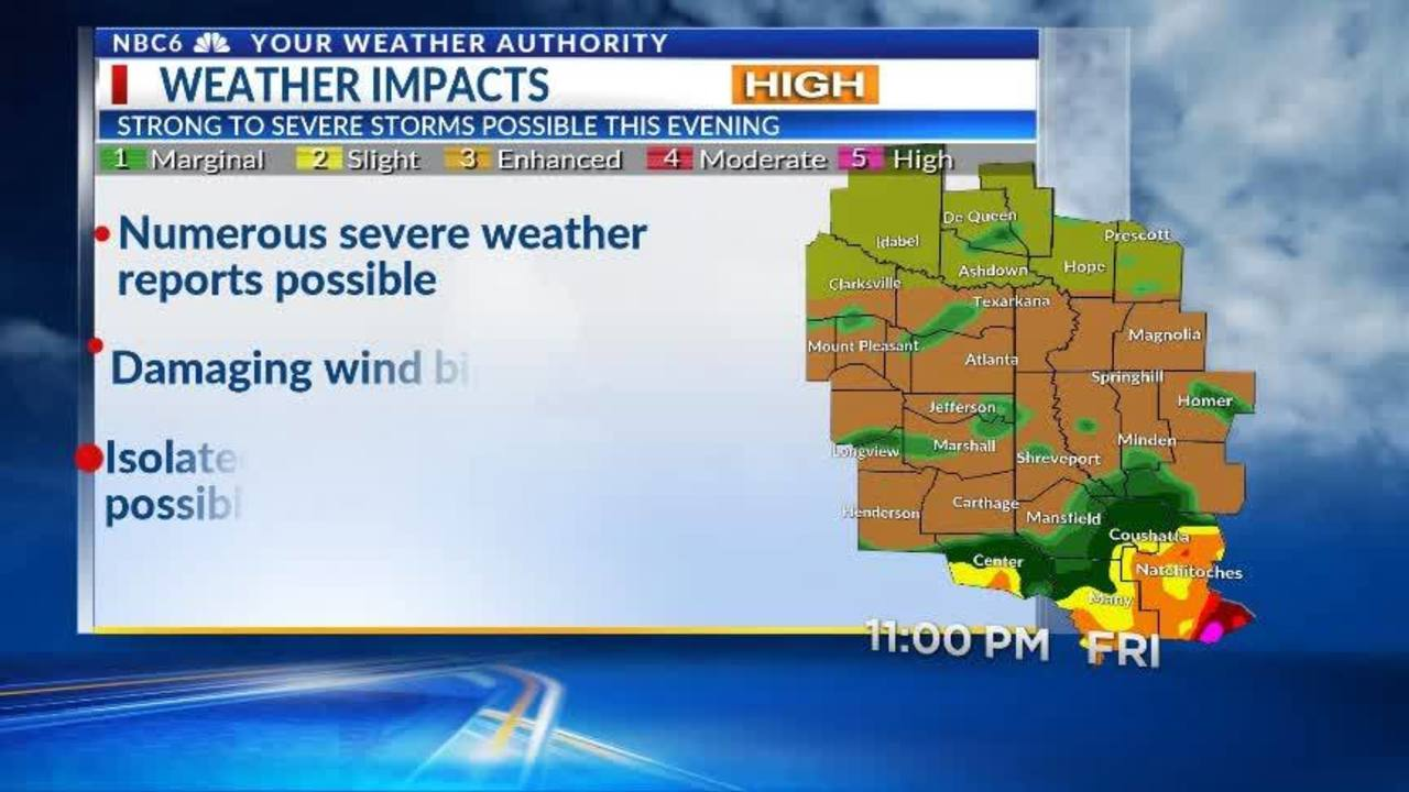 Severe Weather Update Friday 12p