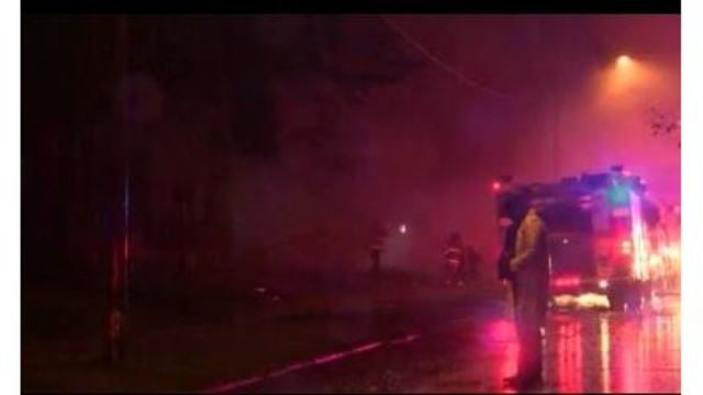 SFD firefighters brave wind, cold and rain to bring Jordan Street fire under control
