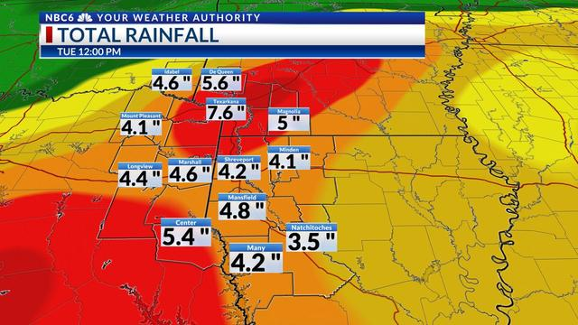 Rainfall potential through Saturday