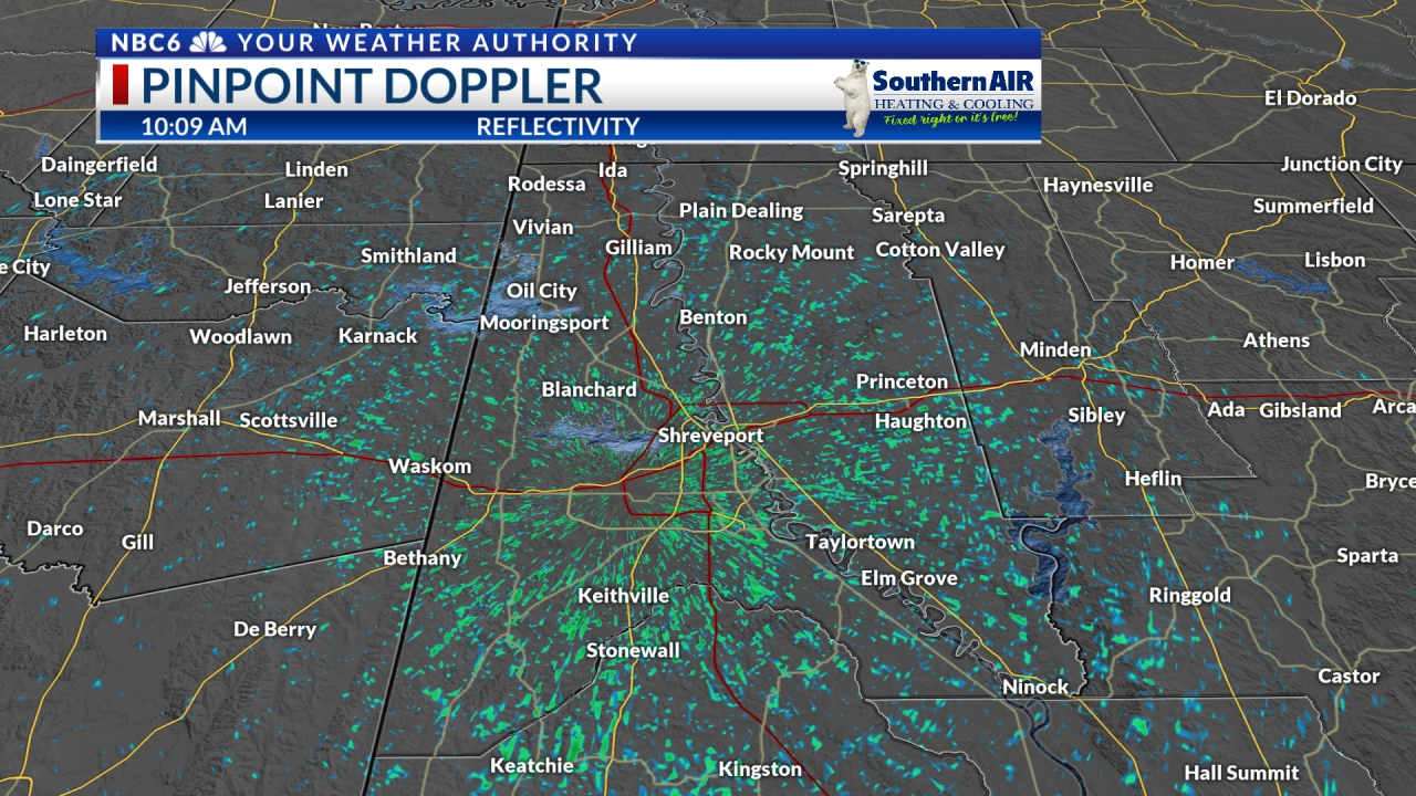 Pinpoint Doppler Caddo & Bossier Parishes